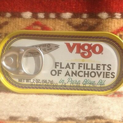 Imported Vigo Flat Fillets of Anchovies in Pure Olive Oil