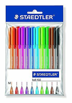 STAEDTLER - 43235MPB10 Rainbow Ballpens, Pack of 10