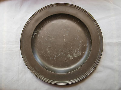 Antique English Pewter Multi Reed Charger, 18.25In, William Withers, London 1695