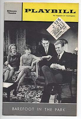 Barefoot In The Park Biltmore Theatre Playbill 1963 Neil Simon Robert Redford VG