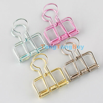 Hollow Metal Binder Clips For Home Office School File Paper Organizer 57*33*12mm