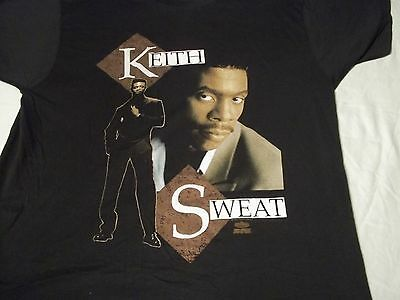 NEW!! Vtg 1991 KEITH SWEAT I'll Give All My Love To You R&B Soul LARGE L T SHIRT