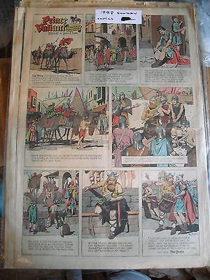 LOT OF (20) 1944-1968 PRINCE VALIANT COMIC STRIP PAGES-Full & Half Pages-Foster