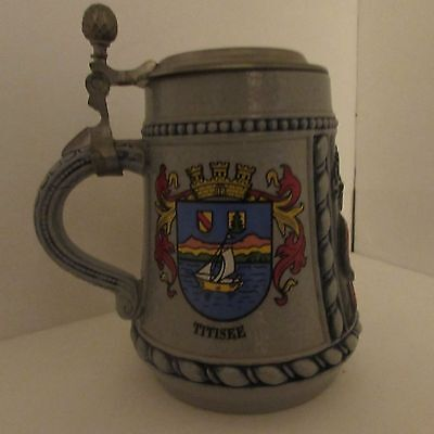 Schwarzwald German Beer Stein Lidded