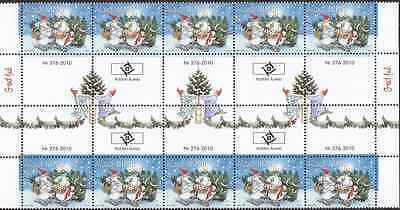 ALAND - 2010 - Christmas. Gutter pair strip, 10v. Mint NH