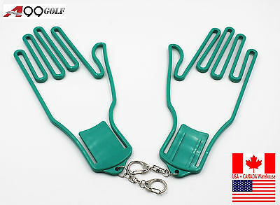 2pcs/pack A99 Golf Glove Dryer Left and Right Hand Stretcher Green color