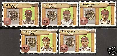 TRINIDAD & TOBAGO 1988 CRICKET DIAMOND JUBILEE 5v MNH