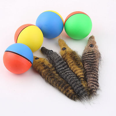Dog Cat Weasel Motorized Funny Rolling Ball Pet Appears Jump Moving Alive Toy LO