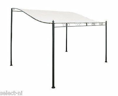 Steel Framed Garden Wall Mounted Sturdy Gazebo With Weather Resistant Cover Kit