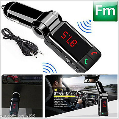 Wireless Bluetooth Autos SUV MP3 WMA Player FM Transmitter Dual USB Charger AUX