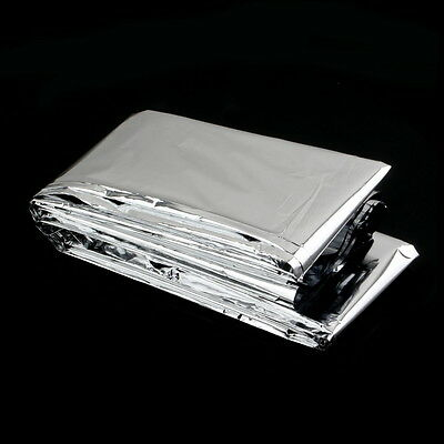 Outdoor Waterproof Disposable Emergency Rescue Space Foil Thermal Blanket LO