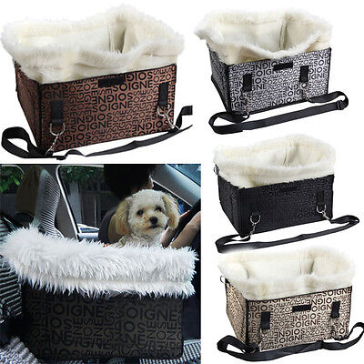 Pet Puppy Dog Car Seat Booster Tote Soft Safety Comfortable Travel Carrier Bag