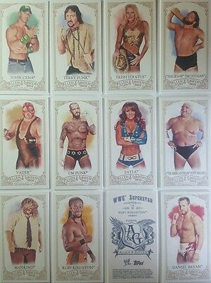 WWE 2007 - 2012 heritage ALLEN & GINTER Card Singles of 12 / of 30 TOPPS