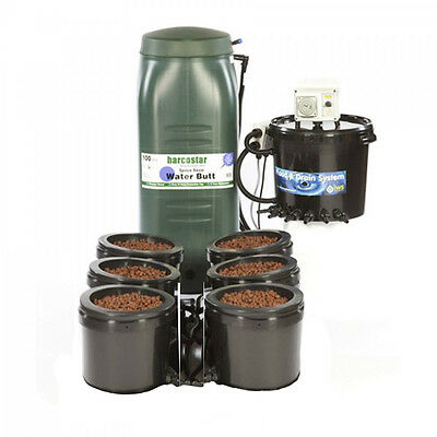 Iws Flood And Drain Standard 6 Pot Complete System With Tank Hydroponics