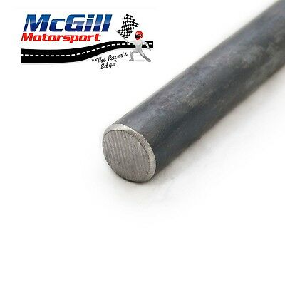 "Bright Mild Steel Solid Round Bar 3/16"" - 1"" and M12 - M16 Length 500mm-1000mm"