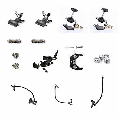 Photo Studio Complete Clamp Bundle Set - Photography Backdrop Grip DIY Clip