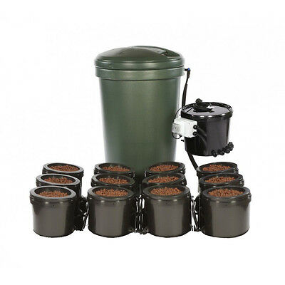 Iws Flood And Drain Standard 12 Pot Complete System With Tank Hydroponics
