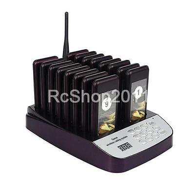 16 Restaurant Coaster Pager Guest Call Wireless Paging Queuing Calling System