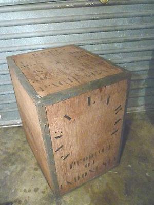 Vintage Wooden Tea Crate/tea Chest **for Pick Up** - Old Wood Industrial Retro
