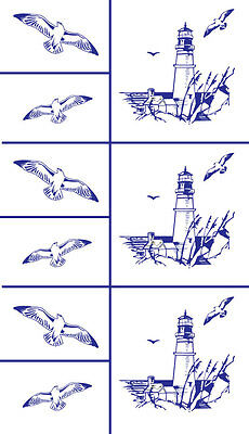 Armour Products  Rub 'n' Etch Glass Etching Stencil  ~ Lighthouse