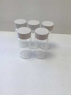 25Ml Screw Cap Glass Vials Pk10