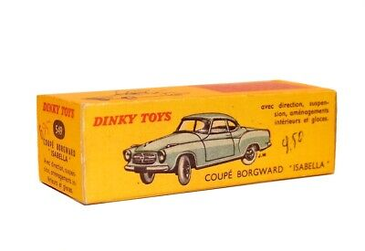 Dinky Toys boîte repro 549 coupe borgward isabella