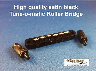Tune-O-Matic style black roller bridge