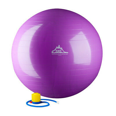 2000lbs Anti Burst Exercise Stability Ball Balance Pump 85cm-Purple-Gym-Ball New