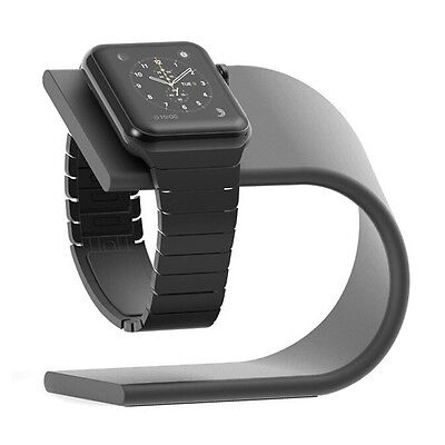 Apple Watch Stand Aluminium Premium Charging Dock Station Series 2 and 1 - Black