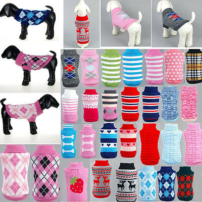 Pet Dog Cat Sweater Puppy Knit Jacket Clothes Apparel For Small Medium Dog