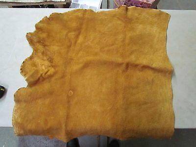"Beautiful Native American Dark Home Tanned Moose Hide Soft 33"" In By 32"" In"
