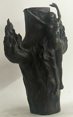 Museum Quality FIRE DANCE VASE by Louis Chalon French Artist Sculpture Statue