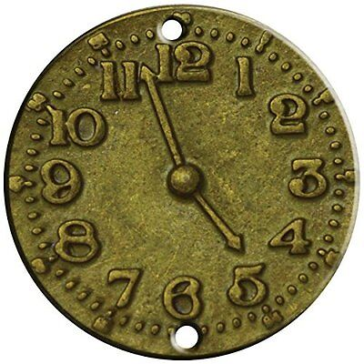 FabScraps Brass Embellishments Clock Face Pack of 15
