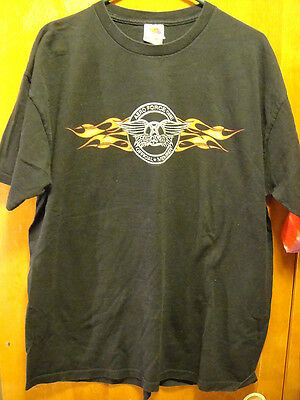 Aerosmith Aero Force One Official Member 2005 Music Concert T Shirt Black XL