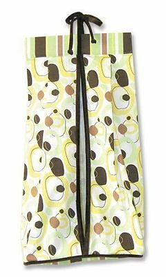 Trend Lab Giggles Diaper Stacker Nursery Green Brown Yellow Baby