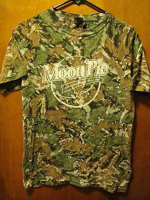 Moon Pie American Favorite Since 1917 T Shirt Small Camo Camoflage