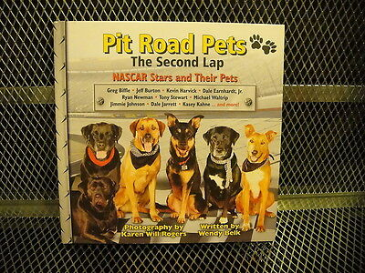 NASCAR ~ PIT ROAD PETS Hard Cover BOOK ~ Signed By Ryan & Krissie Newman