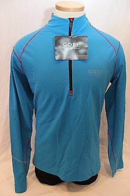 New Gore Men's Essential Long Shirt Top Jersey Blue Large Running Bike NWT $80