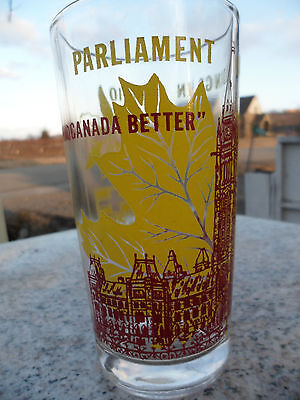 Vintage Parliament Buildings in Ontario Ottawa Peace Tower Drinking Juice Glass