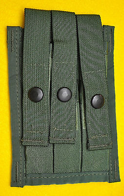 US Army OD Olive Drab Triple Magazine pouch for 3  9mm mags MOLLE