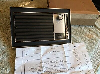 Vintage Rare Zenith NOS TV Television Wall Mount Remote Control And Speaker