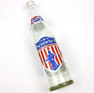 Pepsi Cola Kentucky USA Coke Flasche 1974-1976 Celebrations