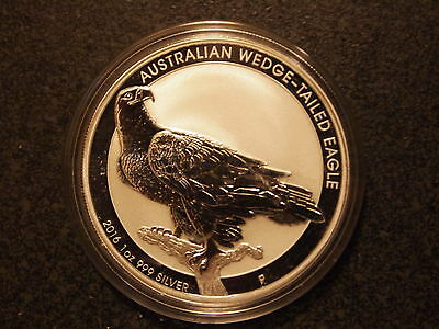 2016 Silver Australian Wedge Tailed Eagle 1 oz Limited Mintage in Mint Capsule