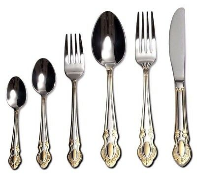 Venezia Collection 'Roma' 75-Pc Flatware Set, 18/10 Stainless Silverware Cutlery