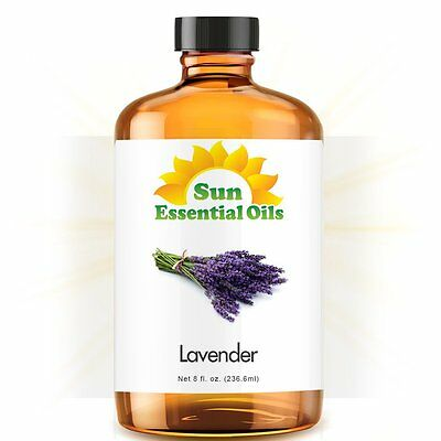 Best Lavender Essential Oil 100% Purely Natural Therapeutic Grade 8oz