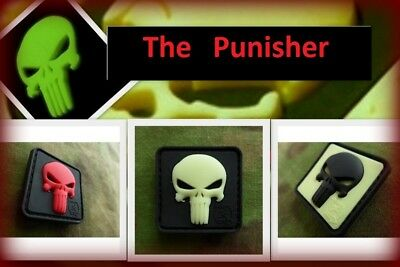 Ready to patch 3D Rubberpatch Punisher in 3 versch. Farb. m. Klett