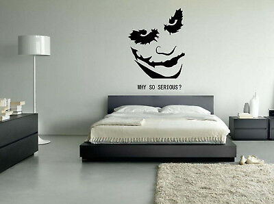 Joker batman why so serious face wall art stickers