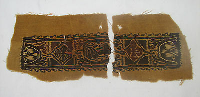 Ancient Museum Quality Egyptian Coptic Textile Fragment 5th Cent AD $2000