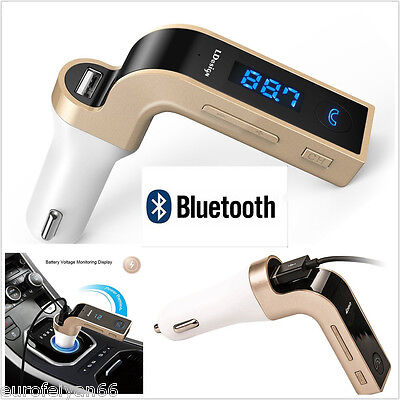 Bluetooth G7 Car MP3 Music Player FM Transmitter USB Charger AUX Phone Handsfree