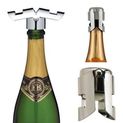 New!! Stainless Steel Champagne Vacuum Sealed Sparkling Wine Bottle Stopper FW